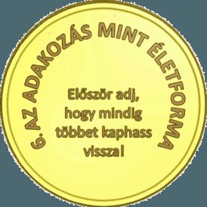 értékrend érme egységes mérettel